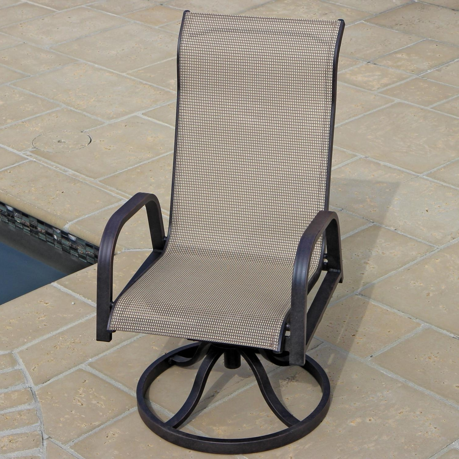 Best And Newest Sling Swivel Rocker Patio Chairs Awesome Madison Bay 7 Piece Within Patio Sling Rocking Chairs (View 10 of 20)