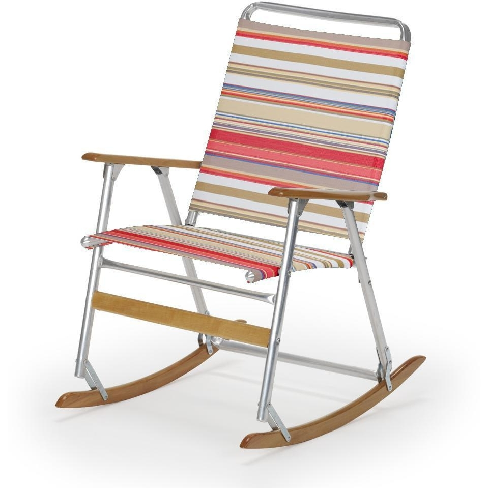 Best And Newest Telescope Casual Telaweave Folding Aluminum Rocking Beach Chair For Folding Rocking Chairs (View 1 of 20)