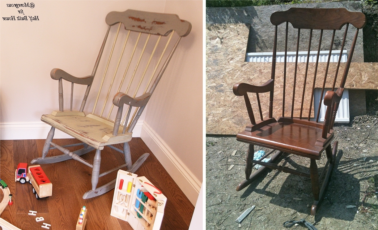 Best And Newest Upcycled Rocking Chairs Intended For Hbh Eastbourne: A Spot Of Child Friendly Designing & Upcycling With (View 3 of 20)