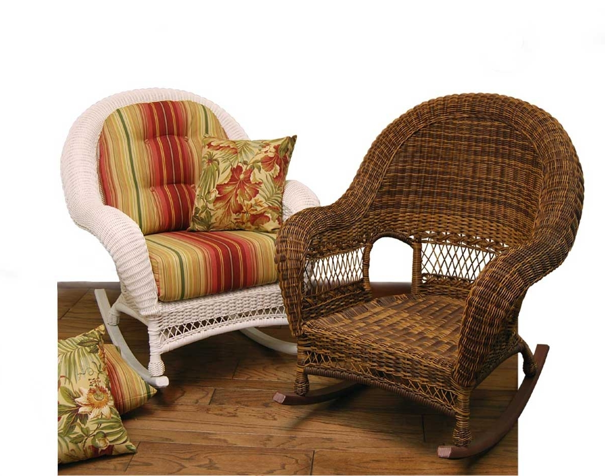 Best And Newest Wicker Domain Deep Seat Rocking Chair W/ Cushions With Indoor Wicker Rocking Chairs (View 3 of 20)