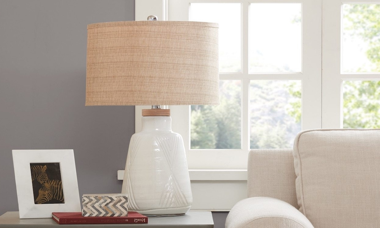 Best Lamp Shades For Your Table Lamp – Overstock With Most Popular Overstock Living Room Table Lamps (View 6 of 20)