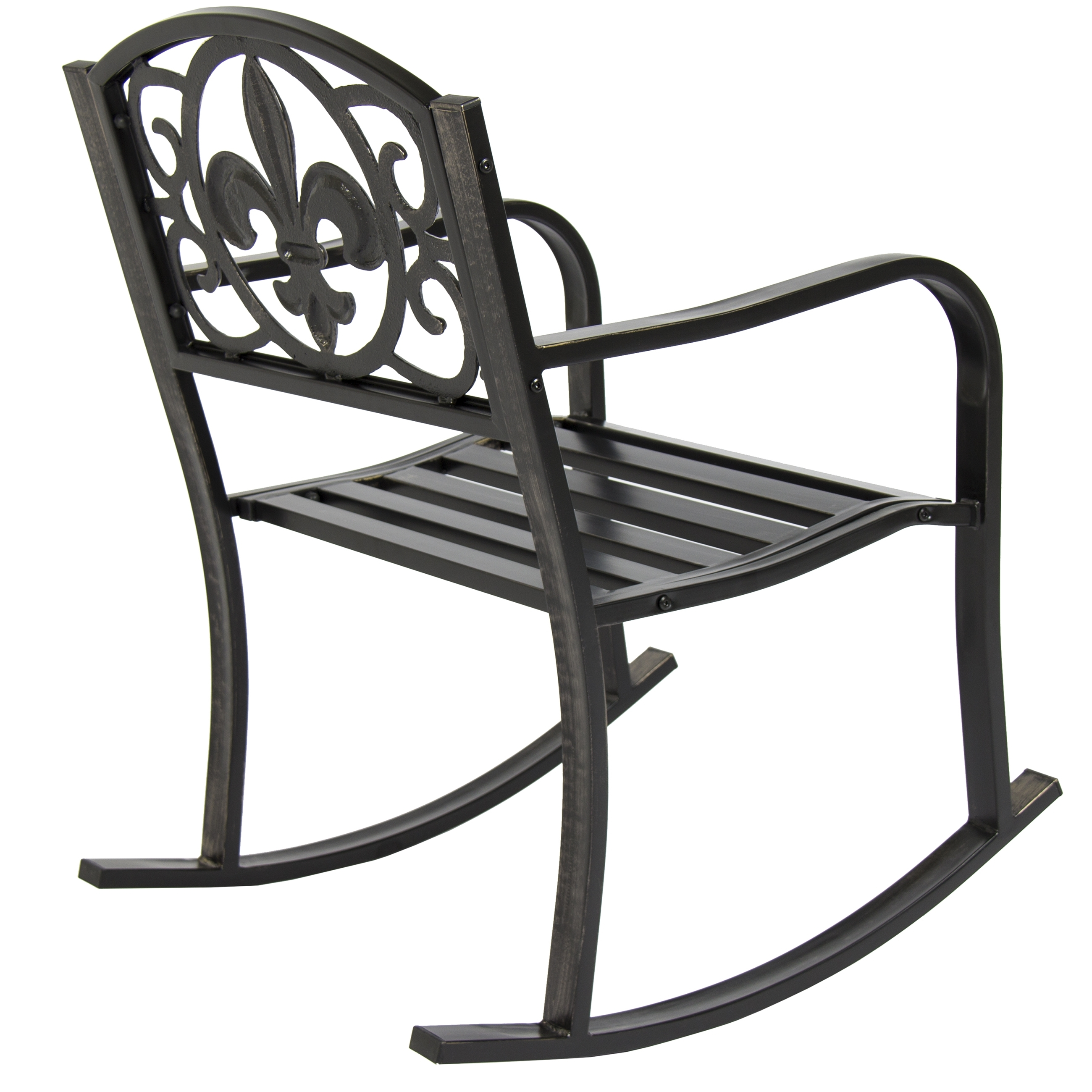 Bestchoiceproducts: Best Choice Products Metal Rocking Chair Seat Within Latest Patio Metal Rocking Chairs (View 3 of 20)