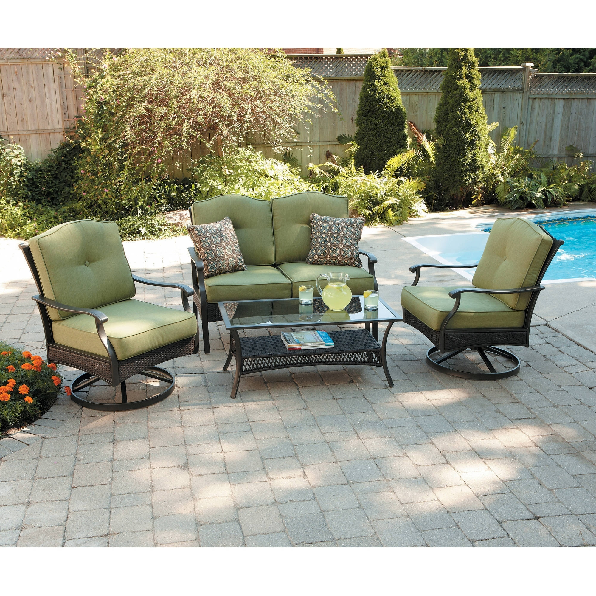 Better Homes And Gardens Providence 4 Piece Patio Conversation Set Within Fashionable Patio Conversation Set With Storage (View 20 of 20)