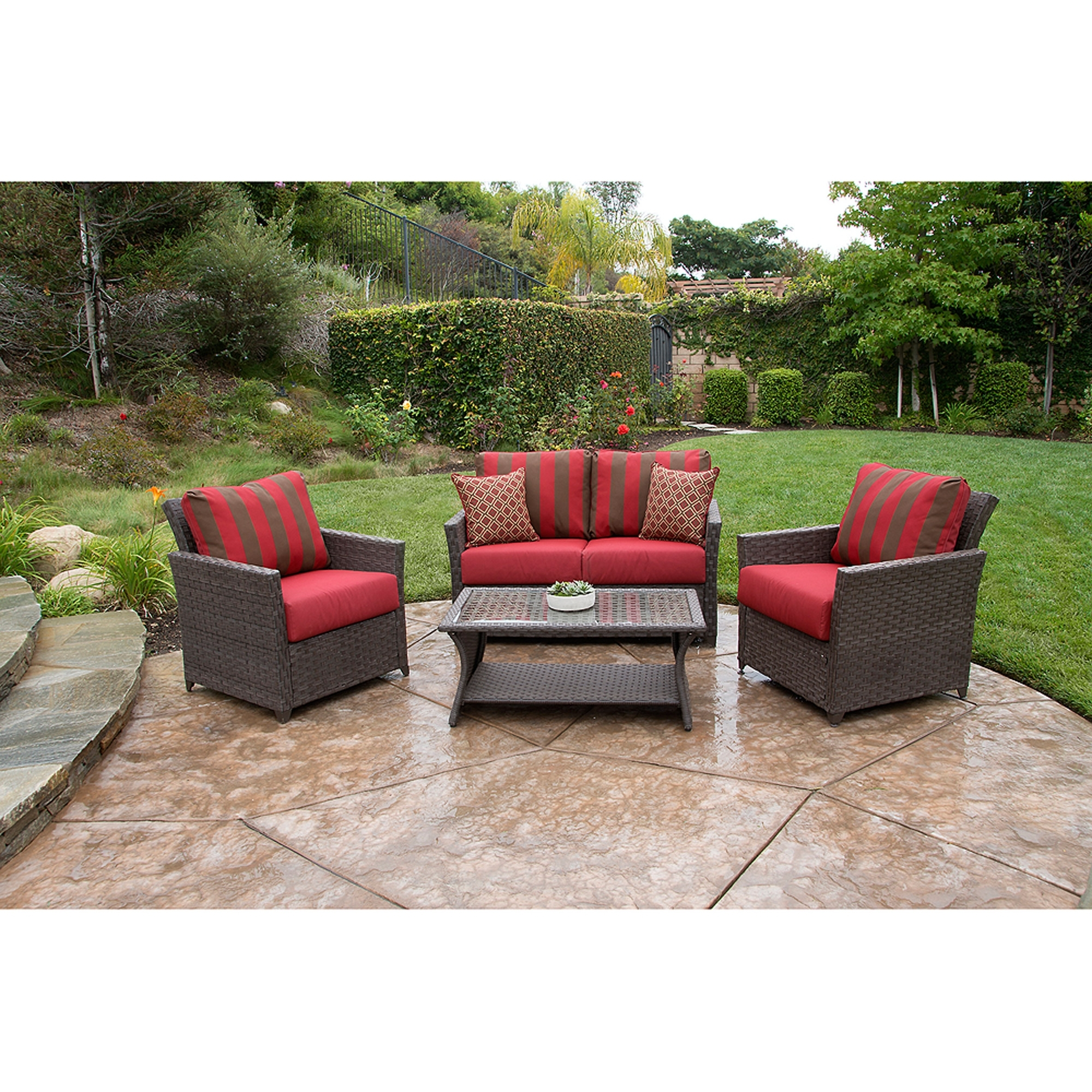 Better Homes And Gardens Rushreed Deep Seating 4 Piece Patio With Most Recently Released Deep Seating Patio Conversation Sets (View 3 of 20)