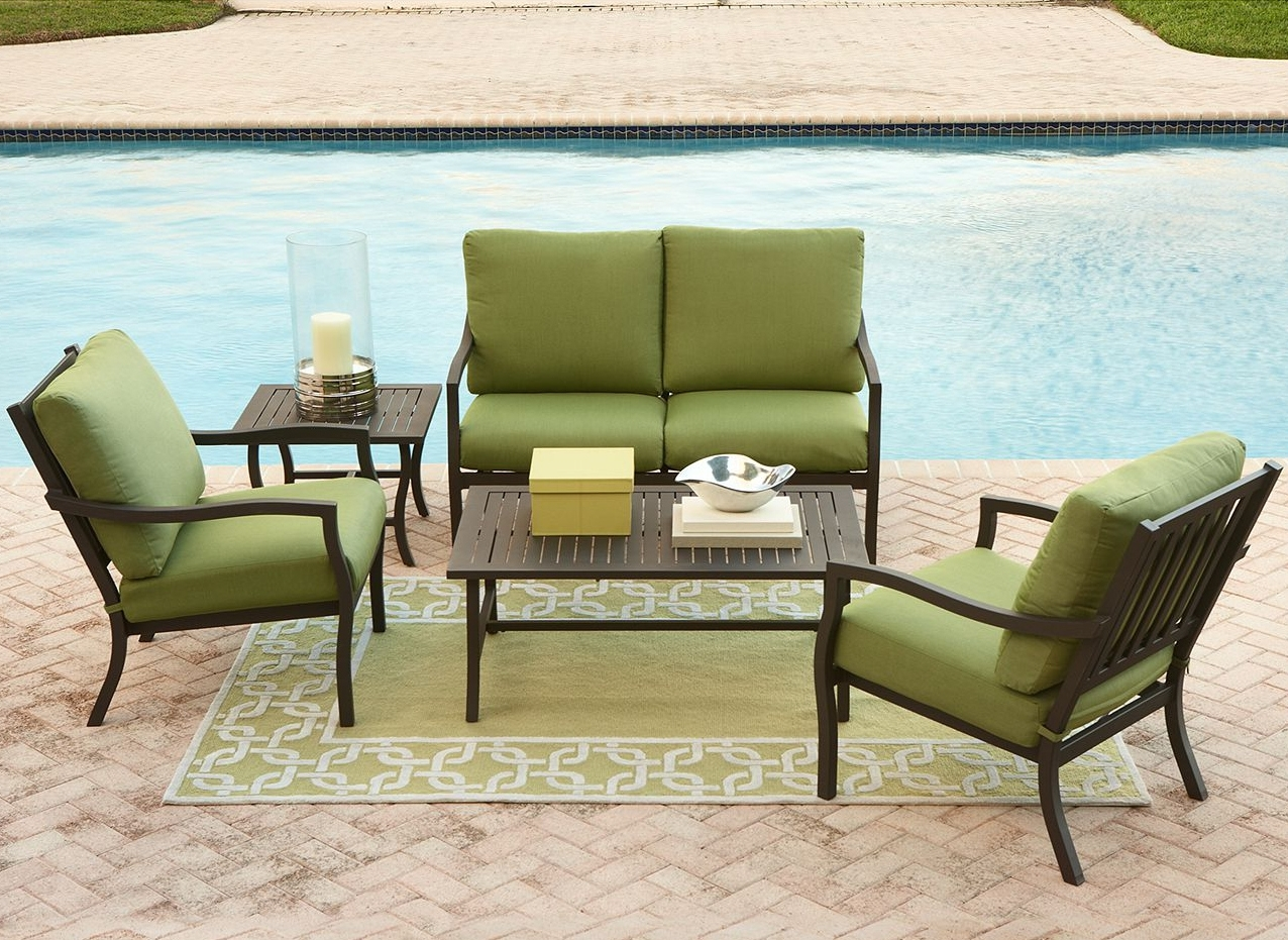 Black Aluminum Patio Conversation Sets With Regard To Well Known Patio : Aluminum Patio Furniture Sets Sling Dining Outdoor (View 4 of 20)