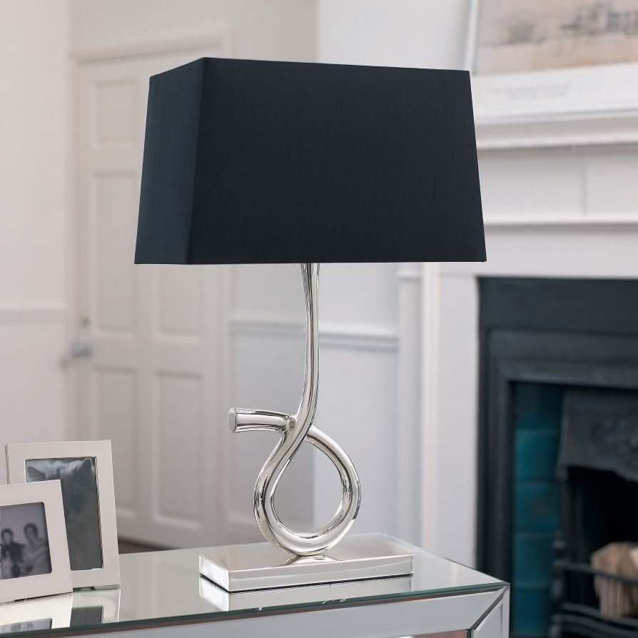Black Living Room Table Lamps Regarding Well Known Fashionable Lamp Shades For Table Lamps Silver Table Lamps Living (View 3 of 20)