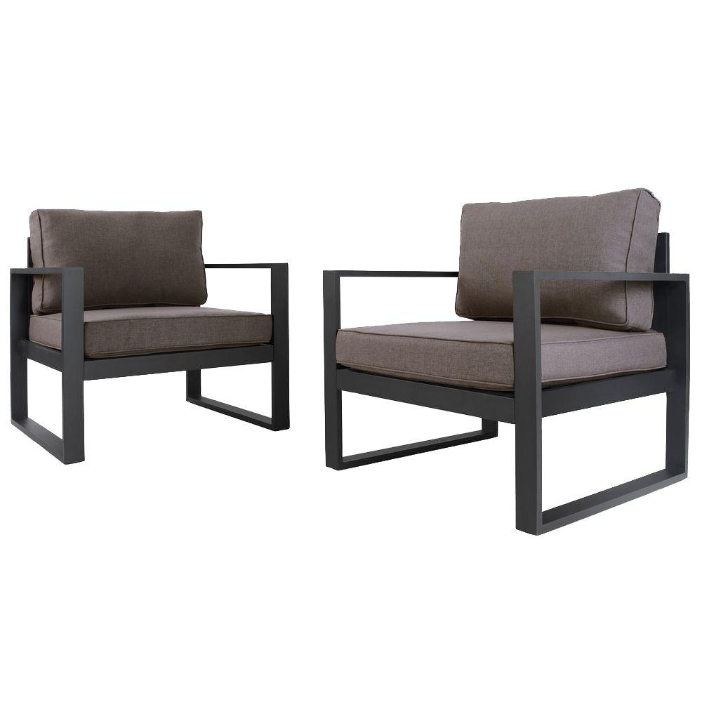 Black Patio Conversation Sets With Regard To Fashionable Real Flame 30 In (View 9 of 20)