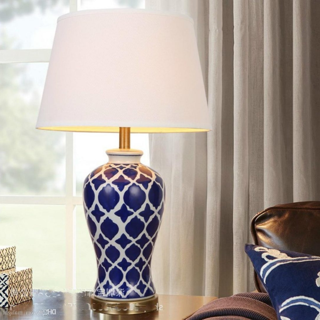 Blue Living Room Table Lamps Throughout Well Known Blue Bedside Table Lamps Uk And White Lamp Bedroom Navy Sanalee Info (View 8 of 20)