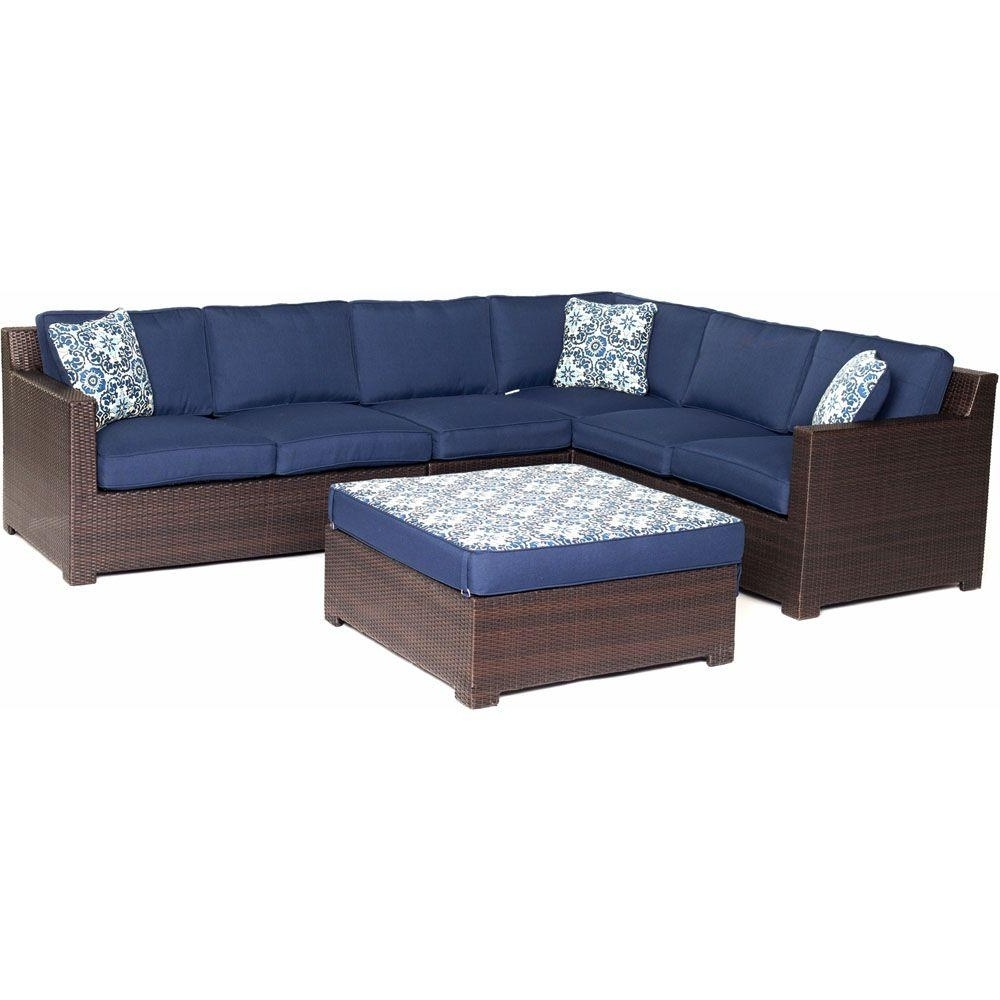 Blue Patio Conversation Sets Intended For Trendy Outdoor Wicker Furniture With Blue Cushions – Outdoor Designs (View 2 of 20)