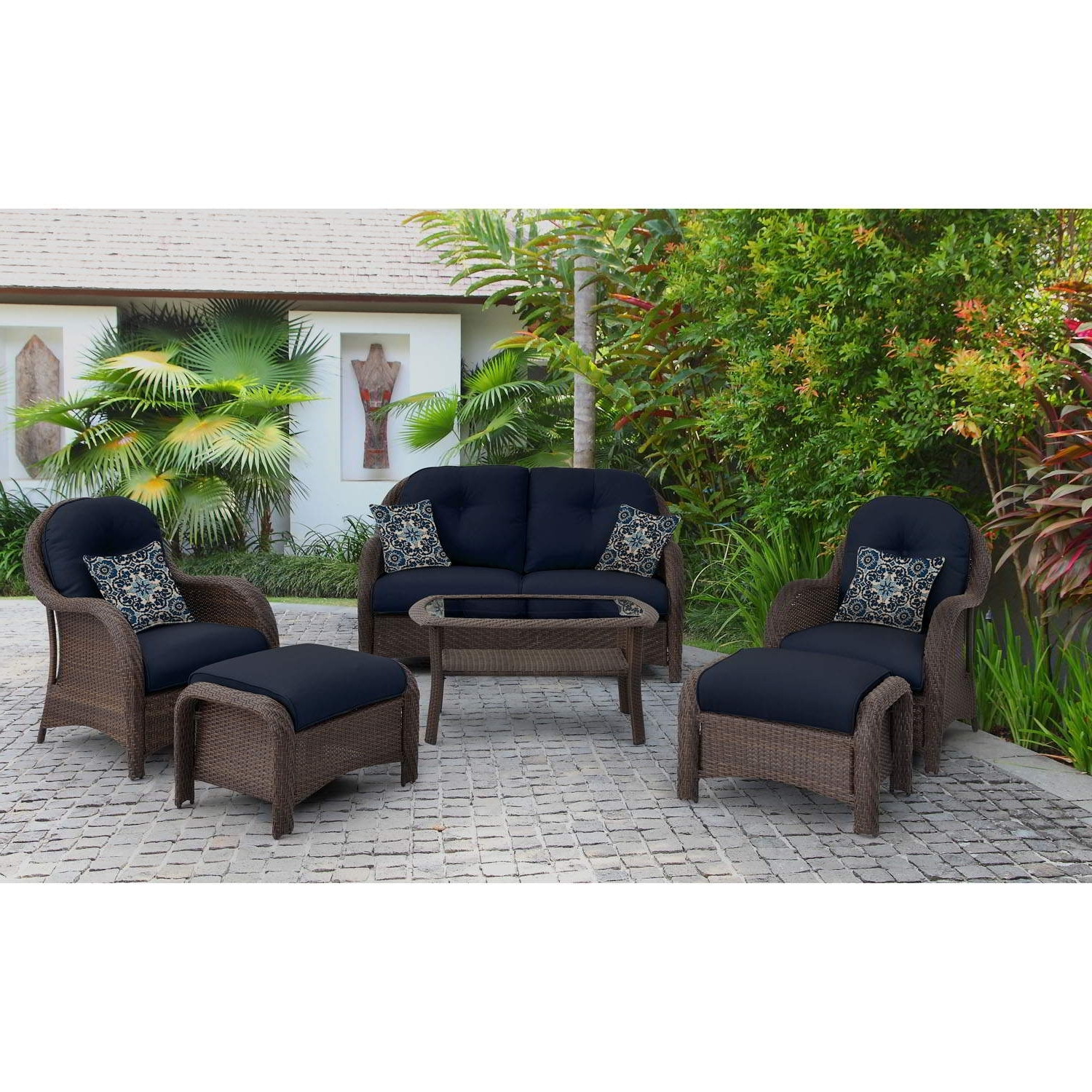 Blue Patio Conversation Sets Regarding Recent Patio : Blue Outdoor And Patio Furniture Bellacor Set Awesome Image (View 11 of 20)