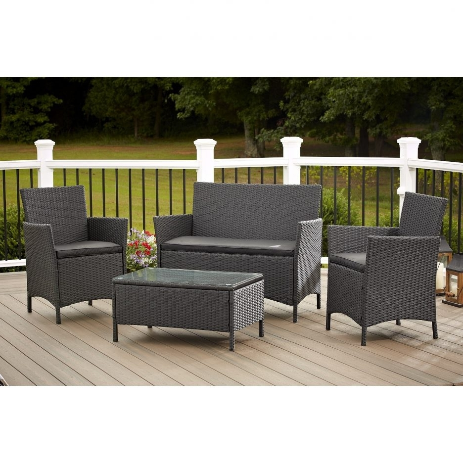 Breathtaking Dark Grey Wickertio Kohls Outdoor Furniture With For Well Liked Kohl's Patio Conversation Sets (View 4 of 20)