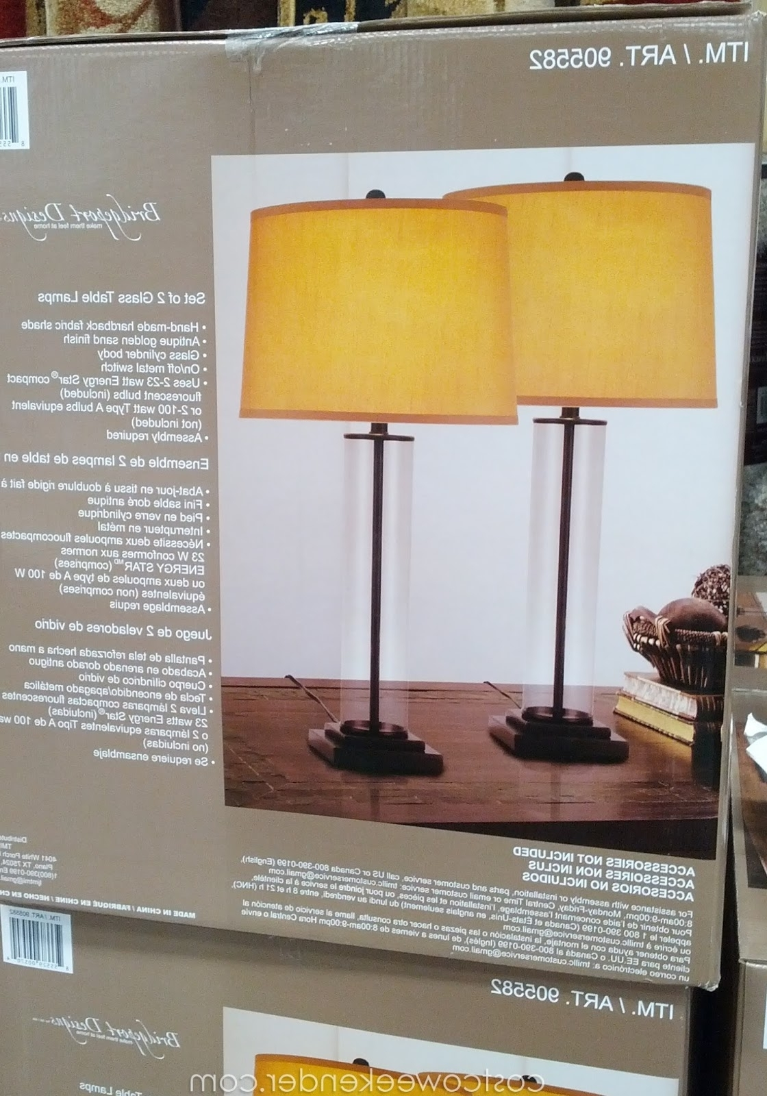 Bridgeport Designs Glass Cylinder Table Lamps (set Of 2) (View 20 of 20)