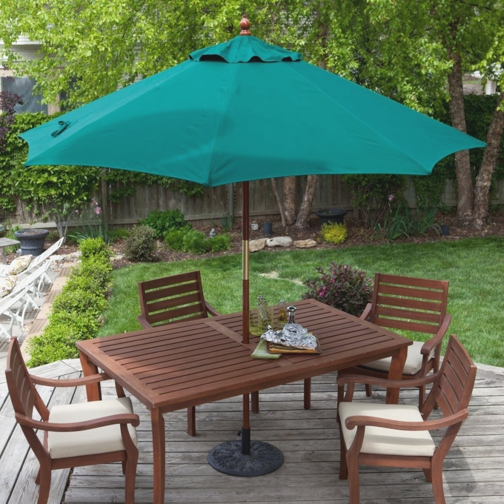 Brilliant Outdoor Patio Set With Umbrella – Bomelconsult Intended For Favorite Patio Conversation Sets With Umbrella (View 9 of 20)