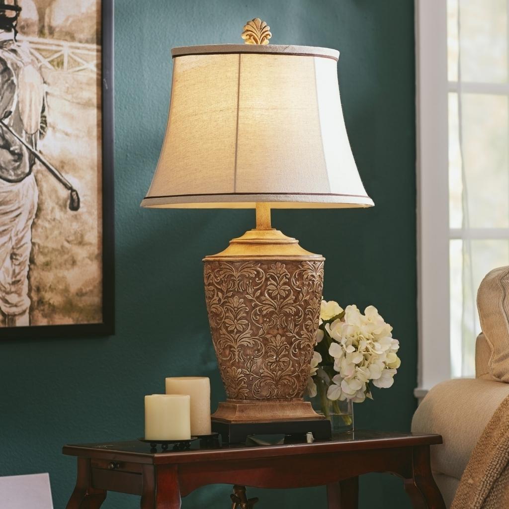Bronze Living Room Table Lamps Regarding Fashionable 47 Table Lamp Sets Living Room, Table Floor Lamp Set Vintage Bronze (View 4 of 20)