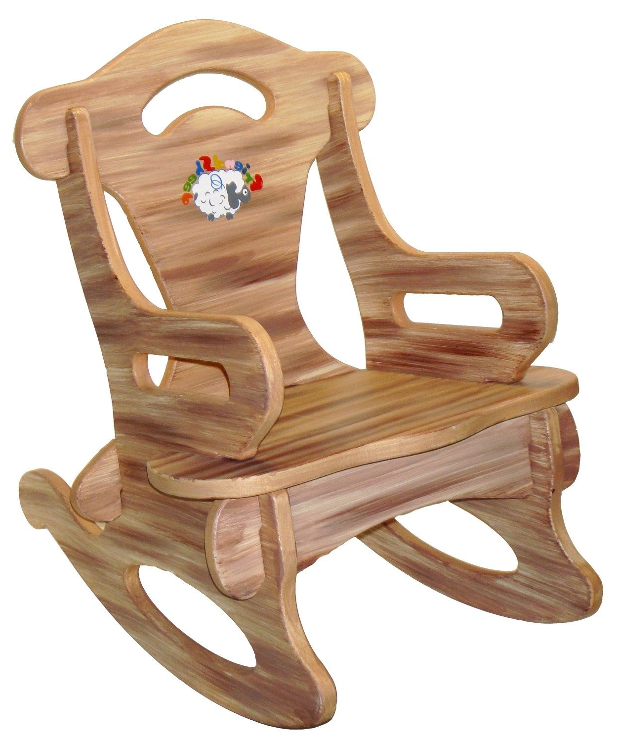 Brown Puzzle Rocker Rocking Chair Solid Wood For Kid, Child, Baby For Trendy Rocking Chairs For Toddlers (View 2 of 20)