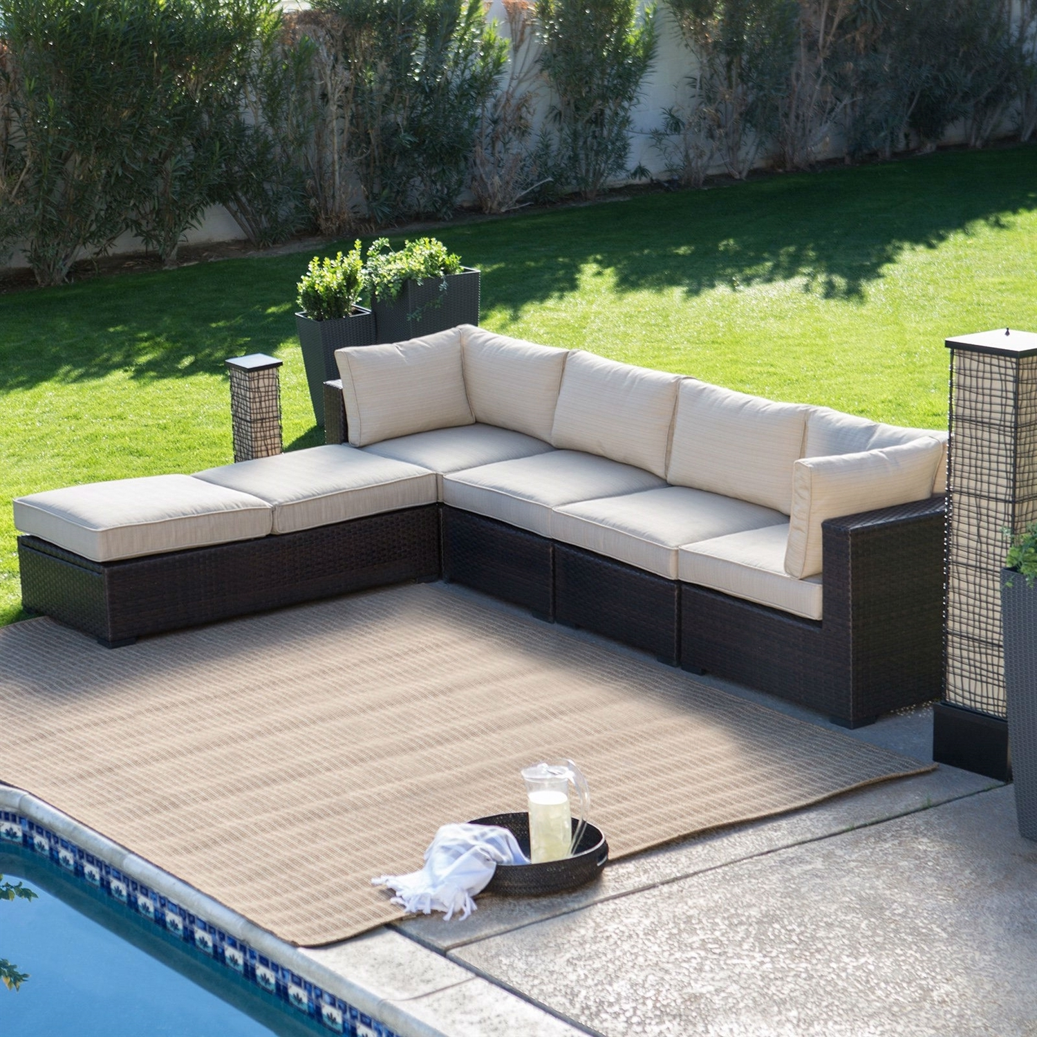 Chair : Outdoor Wicker Resin Piece Sectional Sofa Patio Furniture In Most Recent Patio Sectional Conversation Sets (View 10 of 20)