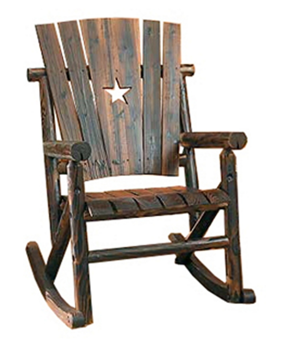 Char Log Patio Rocking Chairs With Star With Regard To Well Liked Leigh Country Char Log Single Rocker With Star Bywidth Tractor (View 5 of 20)