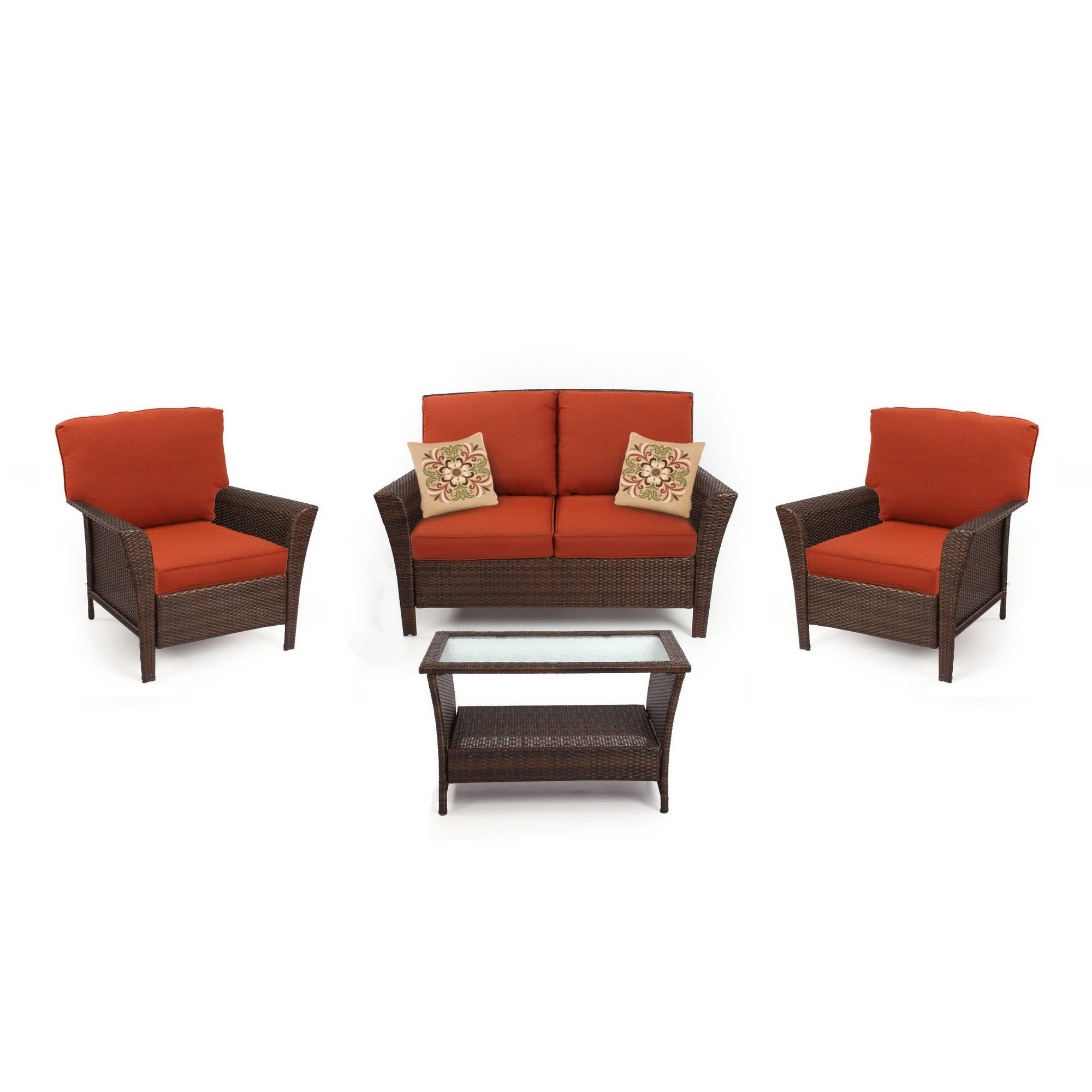 Charlotte Piece Seating Set Red Sears Outdoor Dining Living Coupon With Well Known Patio Conversation Sets At Sears (View 2 of 20)