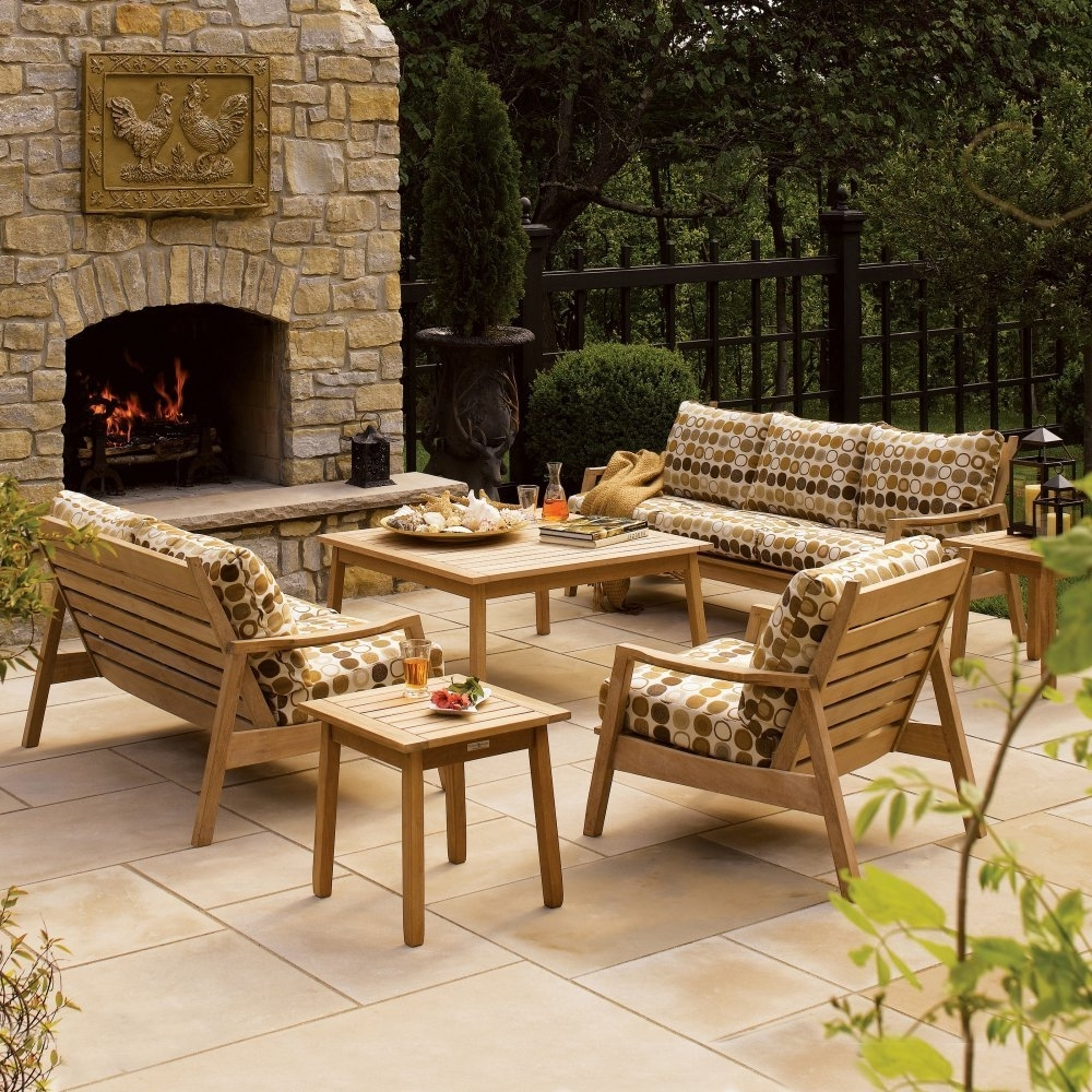 Christy Sports Patio Furniture Tags : Wood Patio Conversation Sets Pertaining To Trendy Wood Patio Furniture Conversation Sets (View 4 of 20)