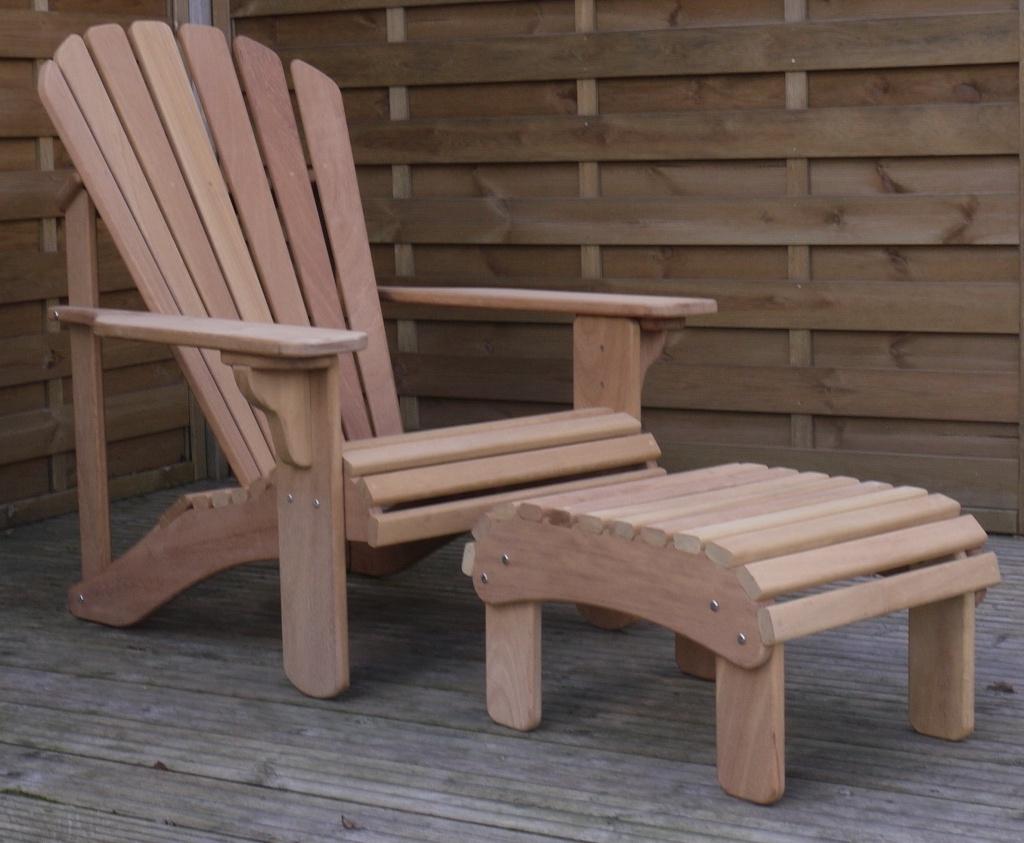 Classic Footstool In Iroko – Adirondack.co (View 16 of 20)