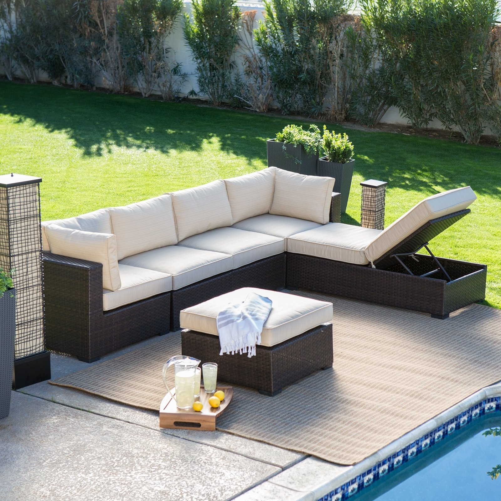 Conversation Patio Sets With Outdoor Sectionals For Well Known Patio : Outdoor Dining Sets Walmart Design Of Outdoor Patio Table (View 11 of 20)