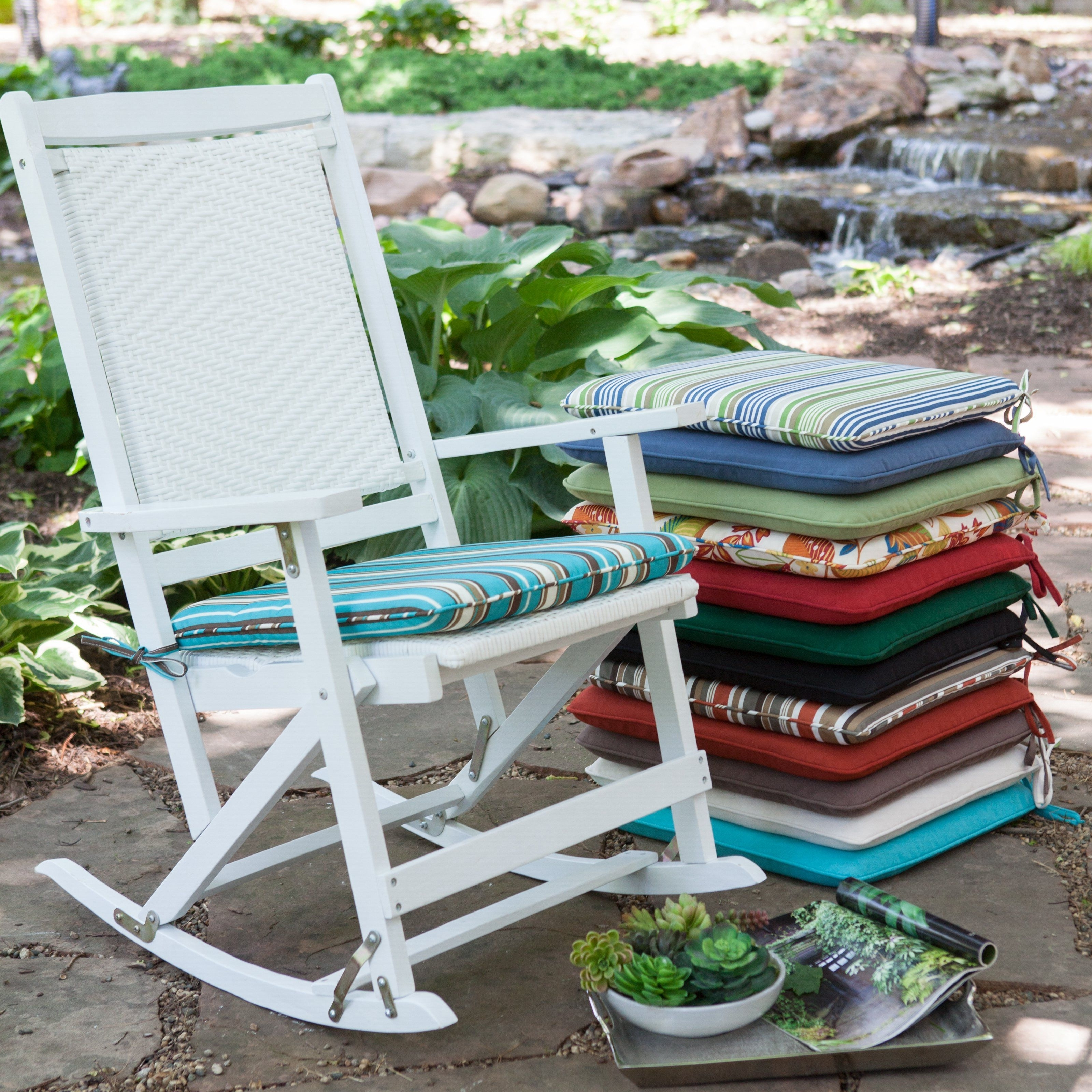 Coral Coast 19 X 18 Rocking Chair Seat Pad – Rocking Chair Cushions With Current Rocking Chair Cushions For Outdoor (View 4 of 20)