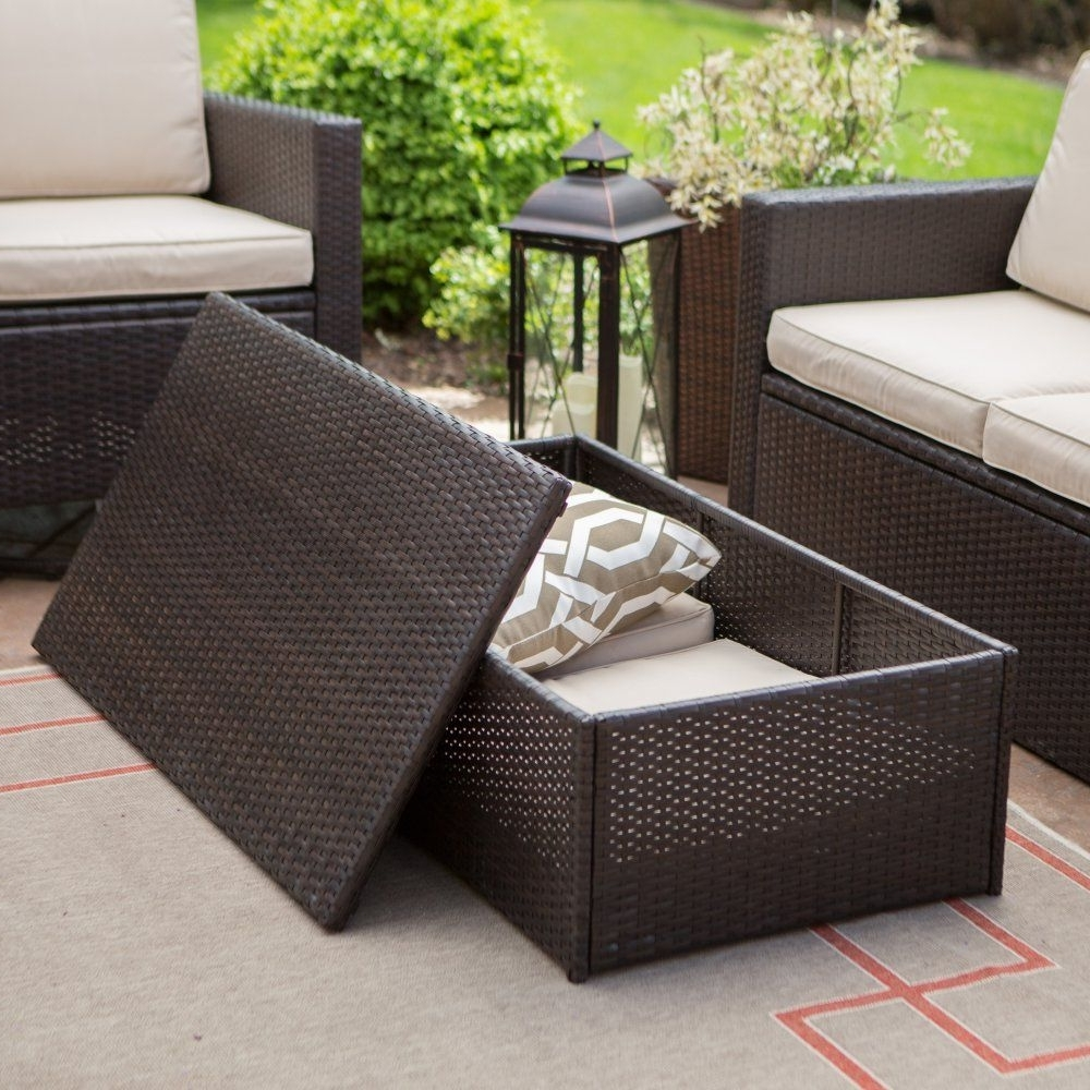 Coral Coast Berea Wicker 2 Piece Storage Conversation Set – The In Famous Patio Conversation Set With Storage (View 2 of 20)