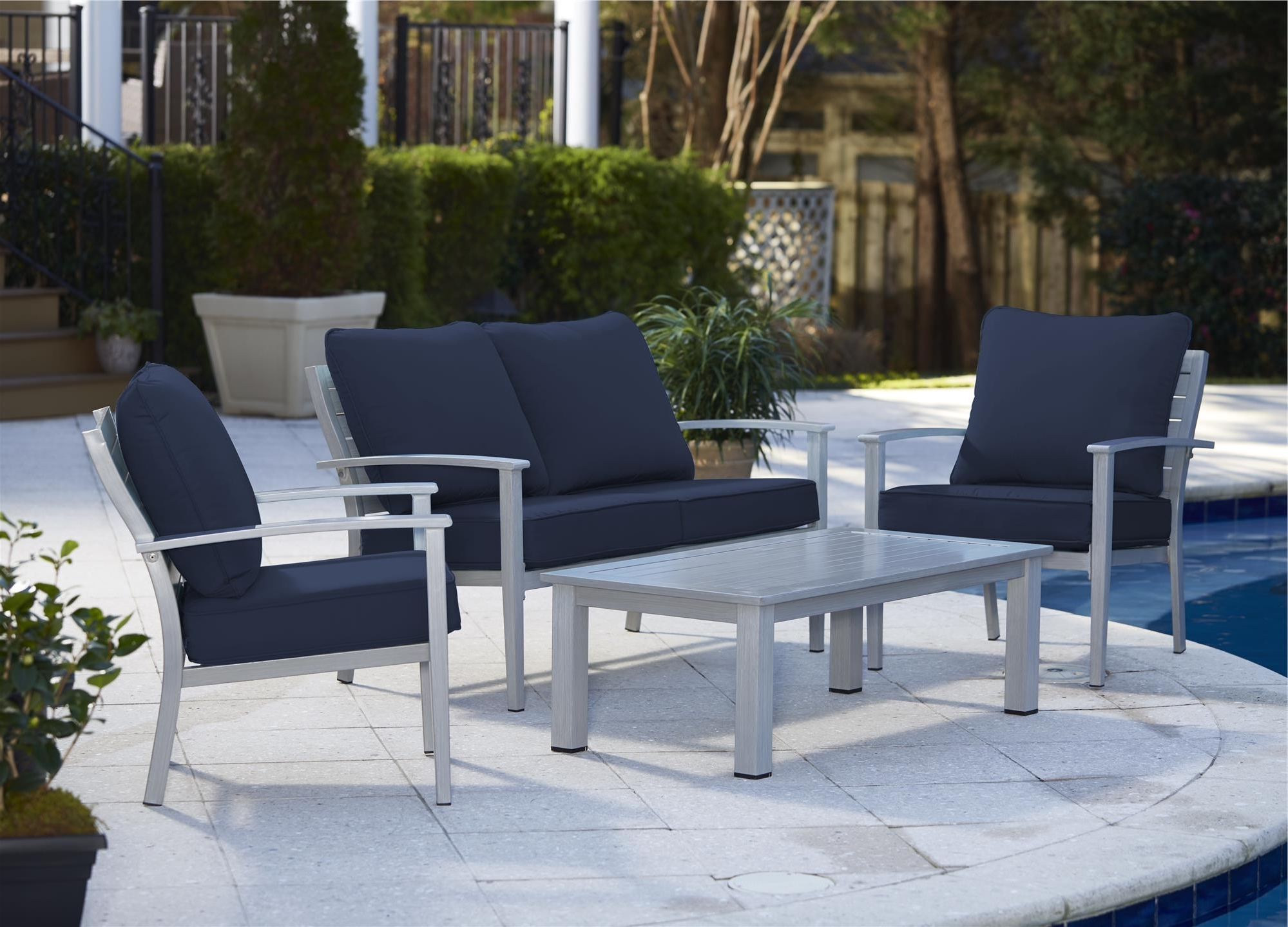 Cosco Outdoor Living 4 Piece Blue Veil Hand (View 6 of 20)