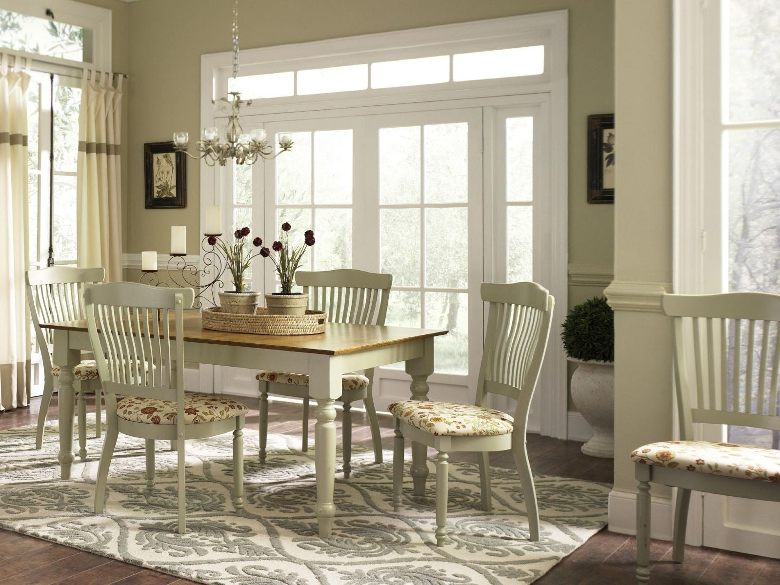 Country Living Room Table Lamps With Regard To Latest Modern Dining Room Ideas White French Country Wooden Dining Table (View 15 of 20)