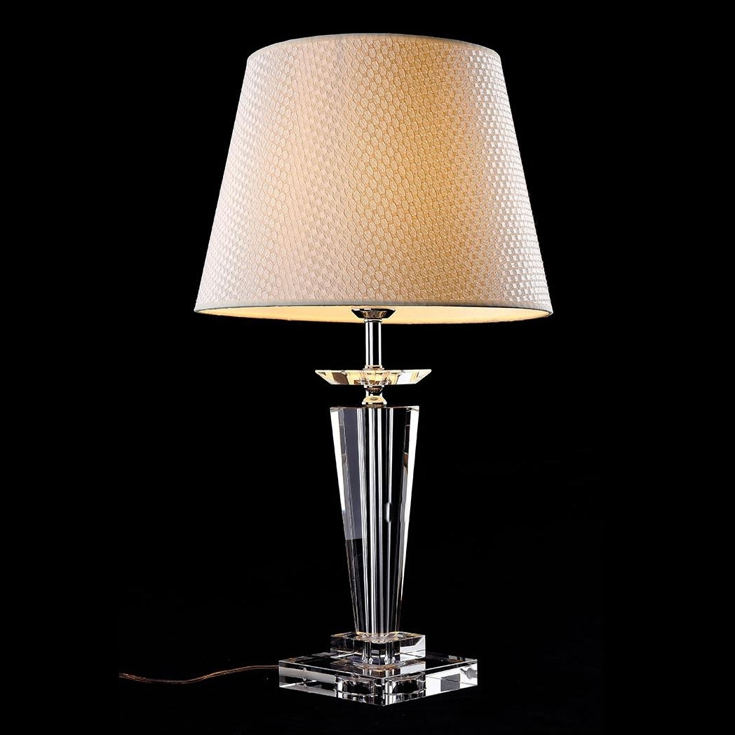 Crystal Living Room Table Lamps Throughout Most Up To Date 2018 Morden European Crystal Bedroom Bedside Table Lamps Art Beige (View 4 of 20)