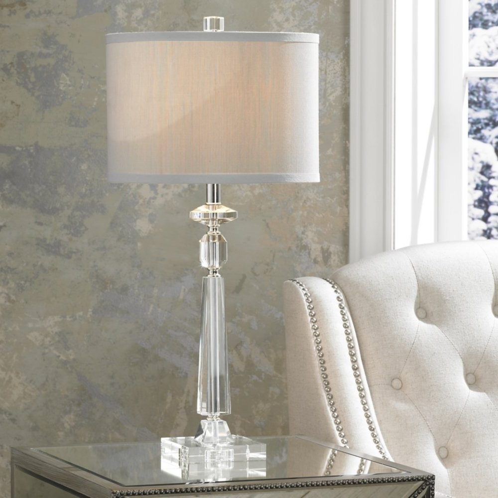 Crystal Table Lamps Living Room — Table Design : Very Accessible Intended For Well Liked Crystal Living Room Table Lamps (View 13 of 20)