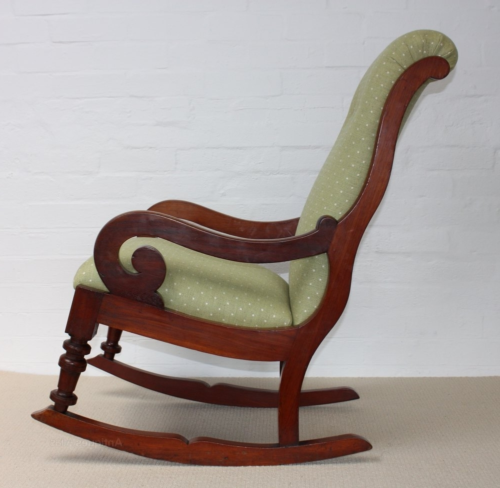 Current A Victorian Mahogany Rocking Chair – Roger Dixon Antiques & Upholstery With Victorian Rocking Chairs (View 13 of 20)
