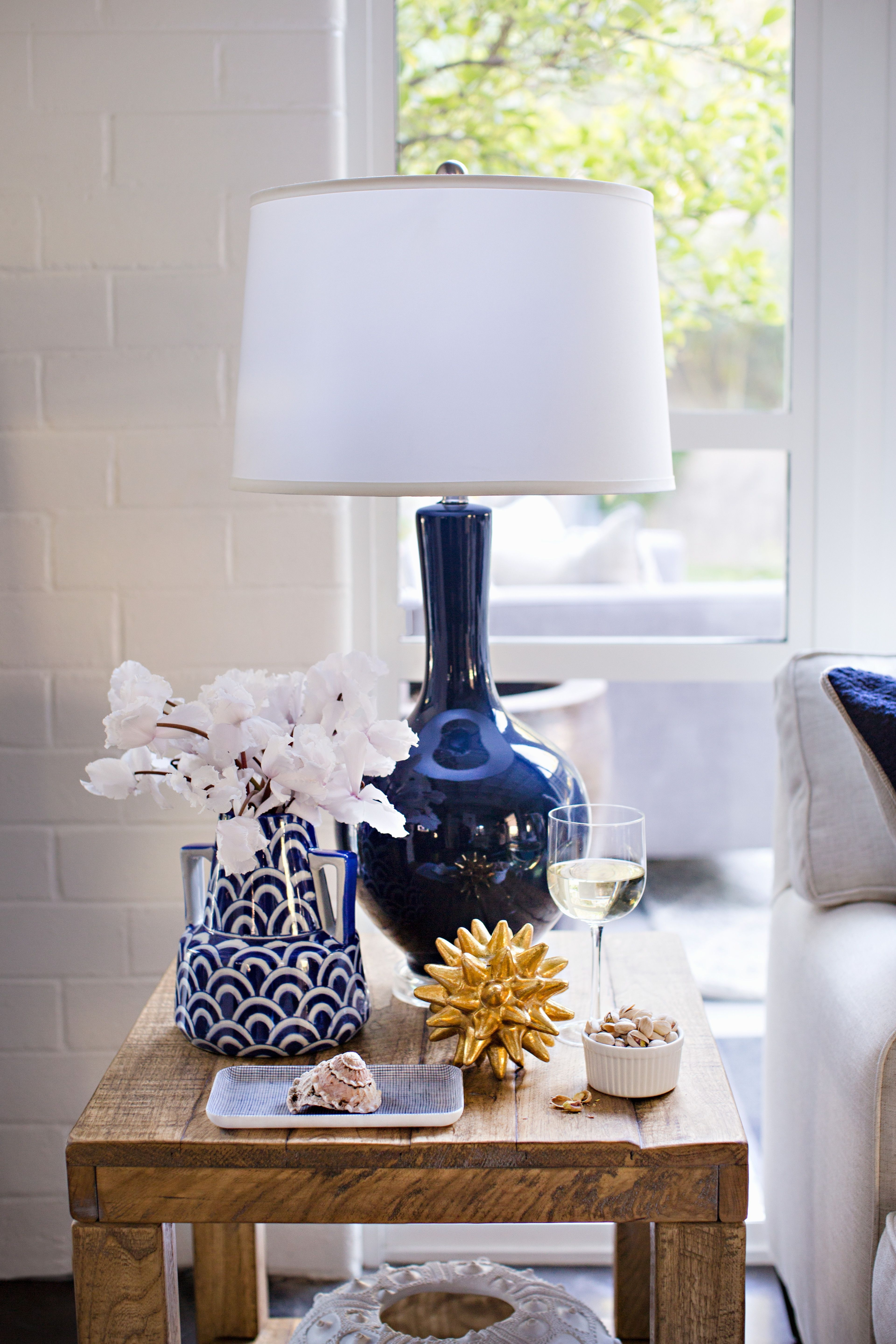 Current Blue Living Room Table Lamps Pertaining To Table Lamp Sloane Navy (View 11 of 20)