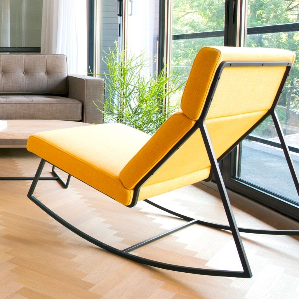 Current Contemporary Rocking Chair Popular Sofa And Yellow Modern Frame Inside Yellow Outdoor Rocking Chairs (View 4 of 20)