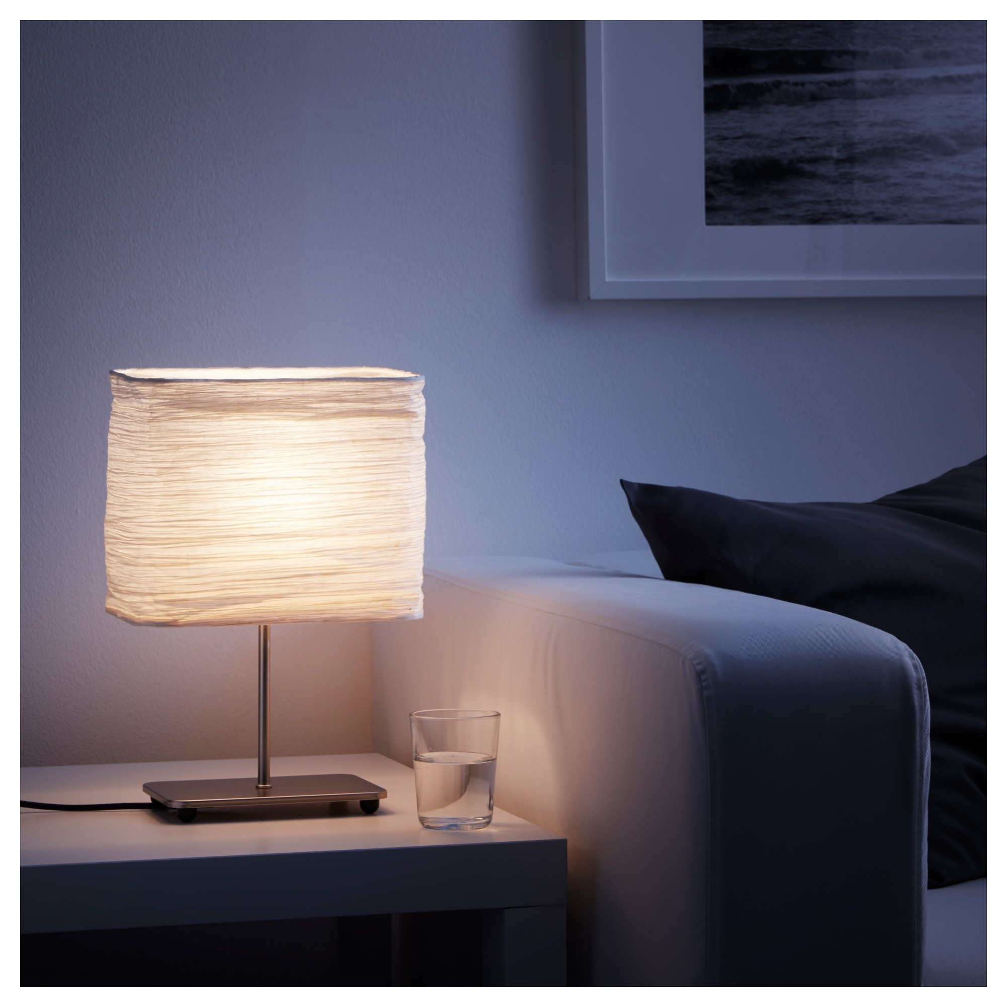Current Nightstand: Magnarp Table Lamp Natural Nightstand Cm Ikea Art Silver Intended For Living Room Table Lamps At Ikea (View 5 of 20)