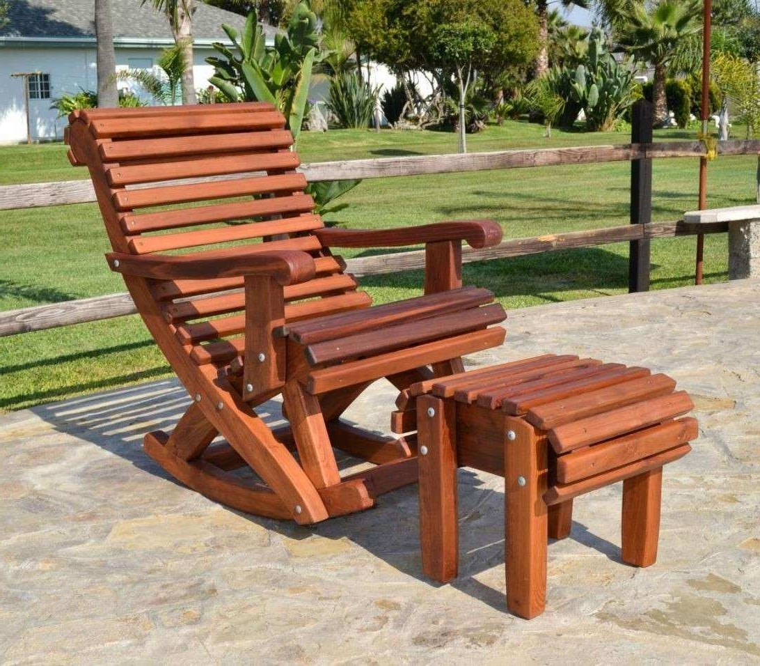 Current Outdoor Wooden Furniture Elegant Ideas For Paint Outdoor Wooden Pertaining To Rocking Chair Outdoor Wooden (View 17 of 20)