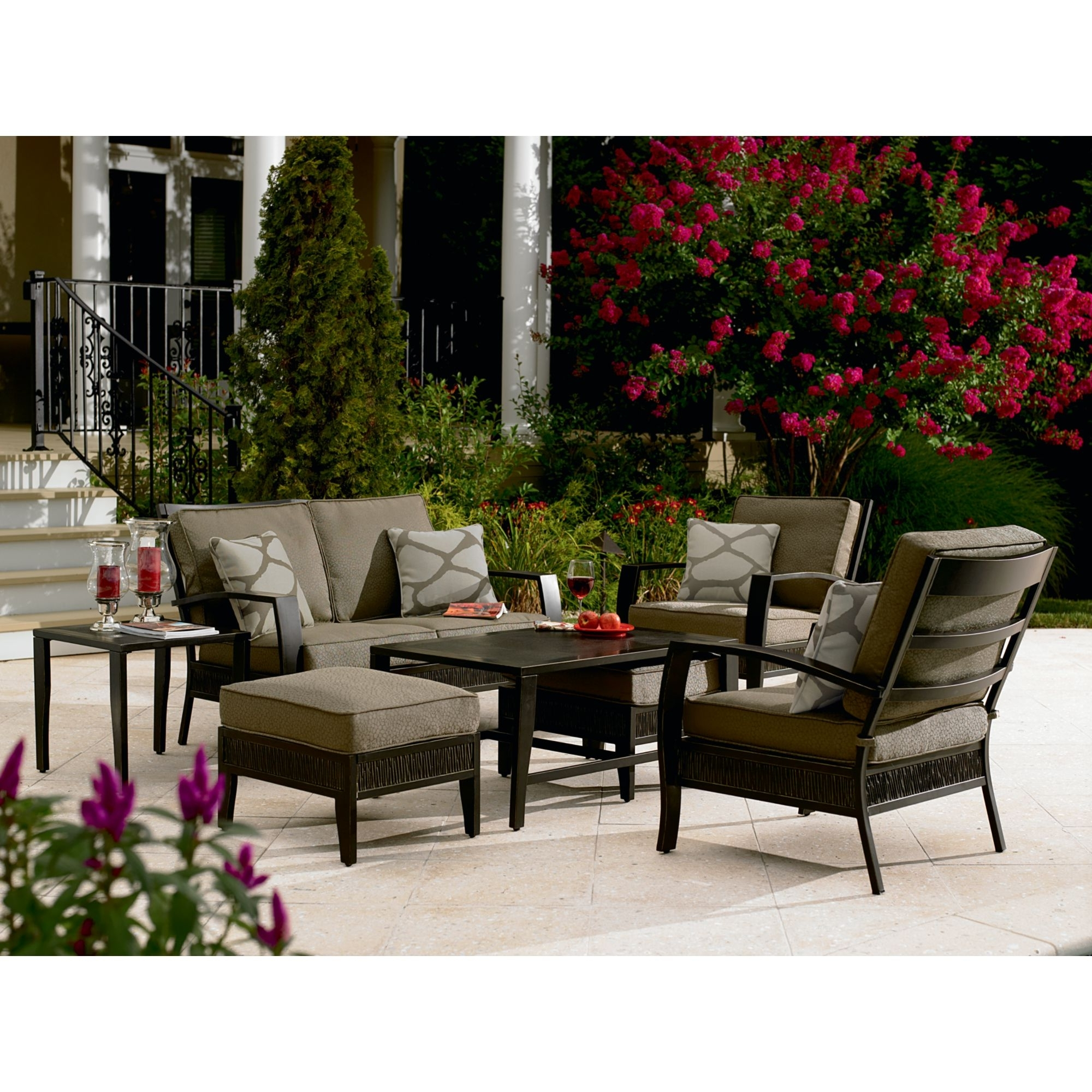 Current Patio Conversation Sets At Sears For Patio Screen Cover Tags : Patio Conversation Sets With Fire Pit (View 3 of 20)