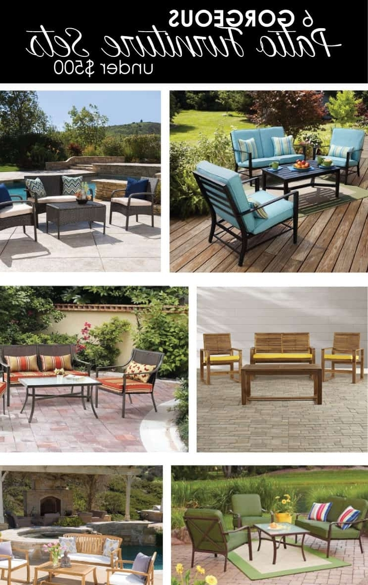 Current Patio Conversation Sets Under $500 Intended For 6 Gorgeous Patio Furniture Sets Under $ (View 6 of 20)