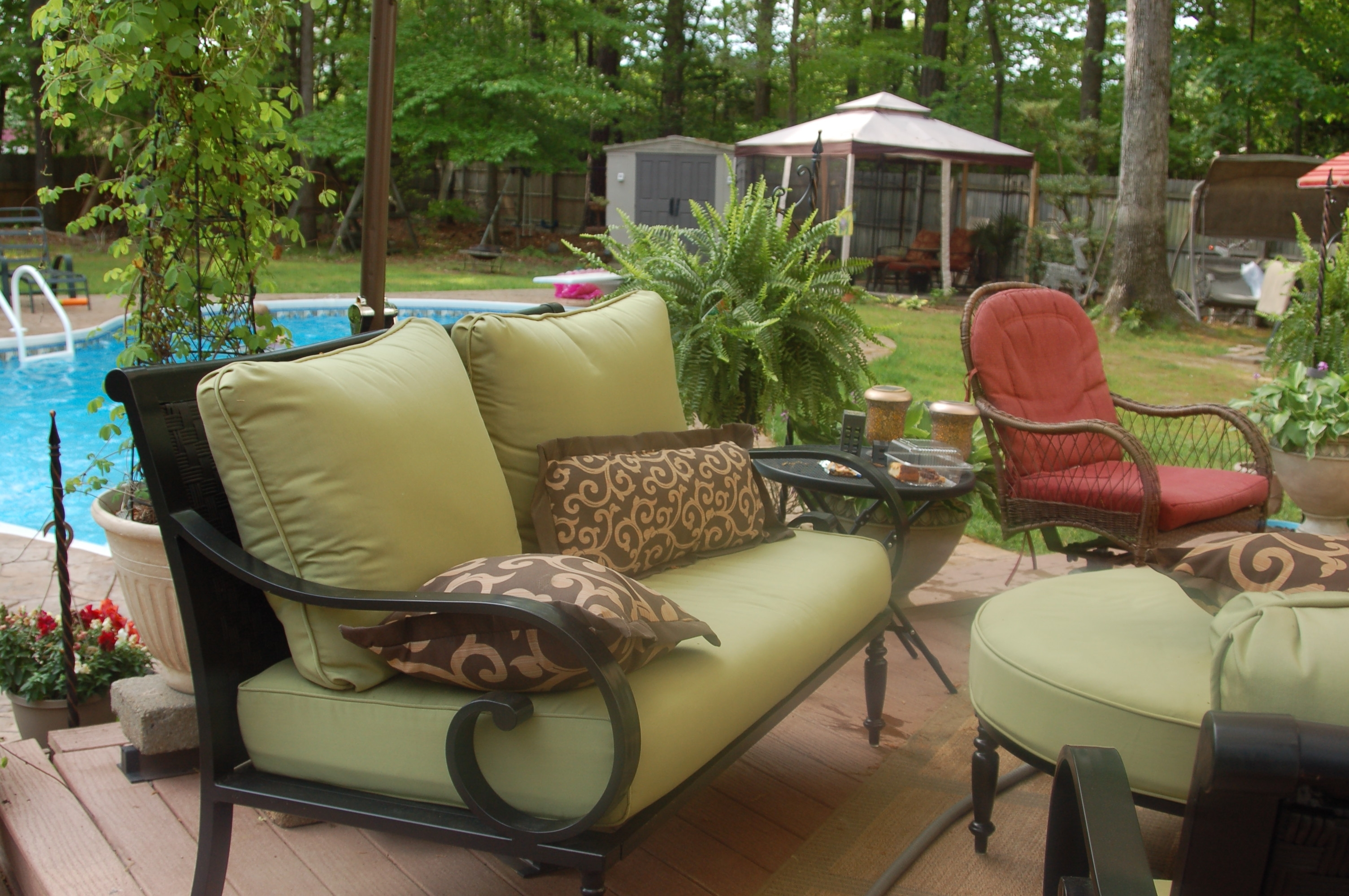 Current Patio Conversation Sets With Covers Intended For Amazing Of Replacement Patio Cushions Englewood Conversation Set (View 7 of 20)