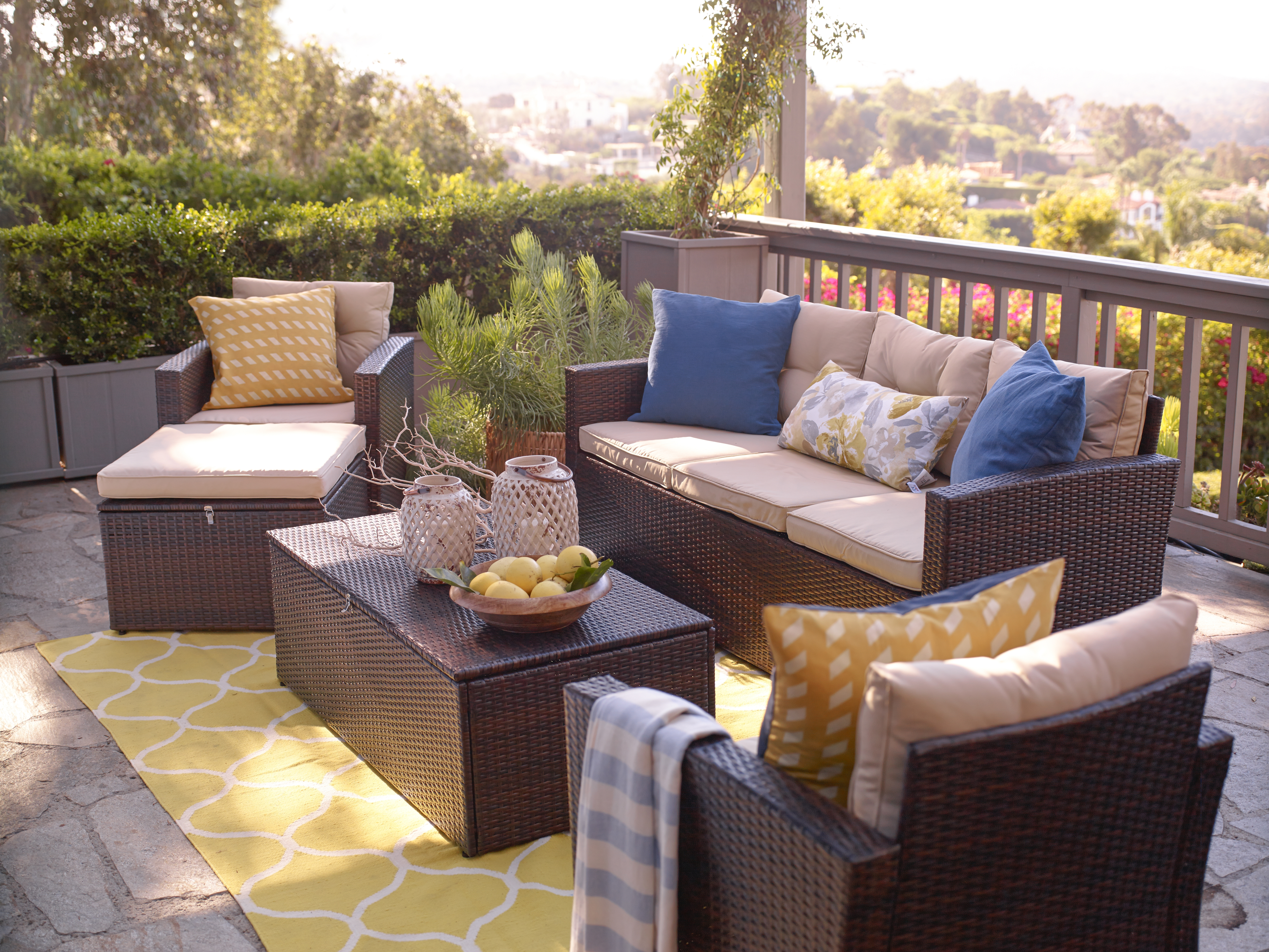 Current Rio 5 Piece All Weather Wicker Conversation Set With Storage And Intended For Patio Conversation Set With Storage (View 19 of 20)