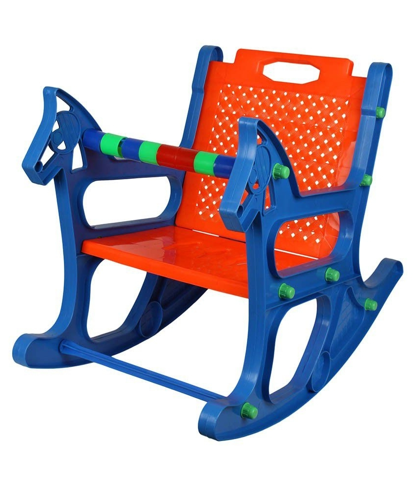 Current Rocking Chairs For Babies Within Ajanta Blue Baby Rocking Chair – Buy Ajanta Blue Baby Rocking Chair (View 7 of 20)