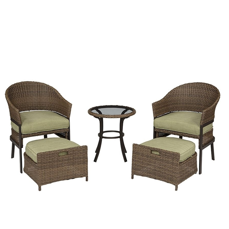 Current Shop Garden Treasures 5 Piece Cape Verde Brown Steel Patio For Steel Patio Conversation Sets (View 11 of 20)