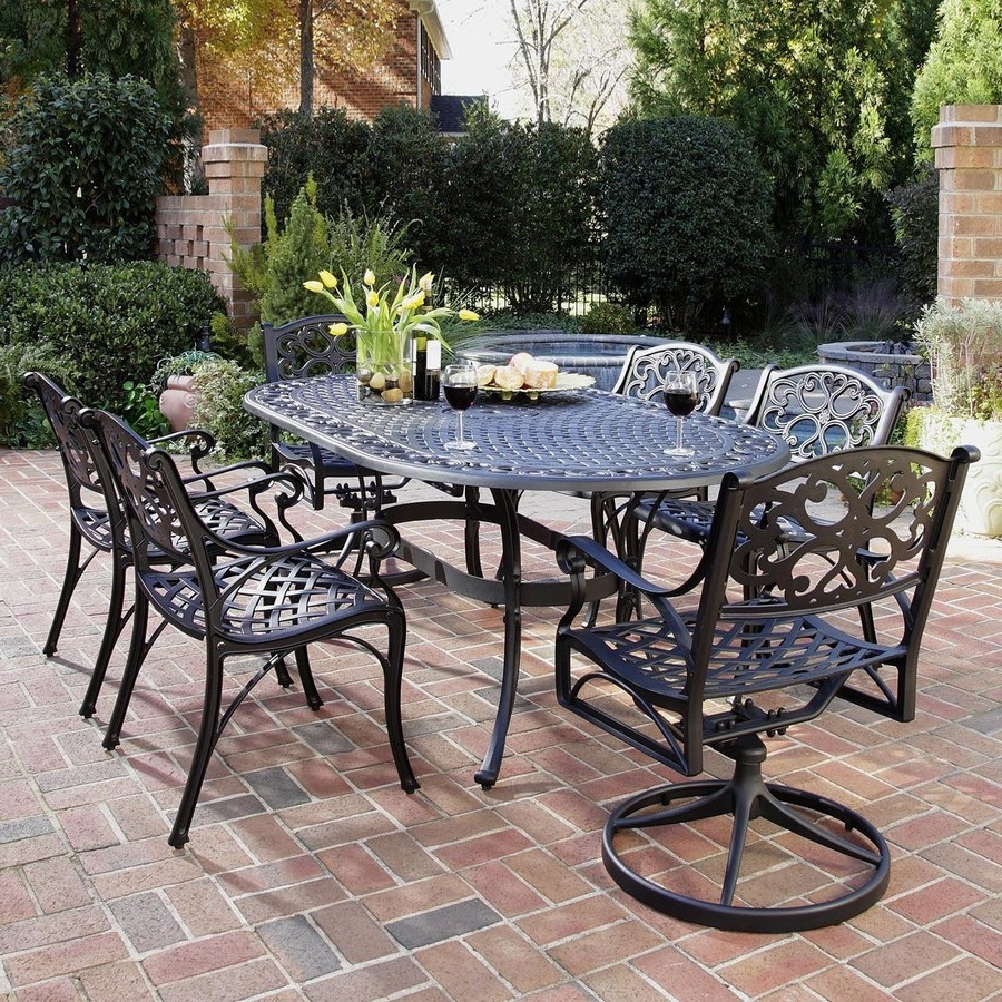 Current Shop Patio Dining Sets At Lowes Intended For Black Aluminum Patio Conversation Sets (View 7 of 20)