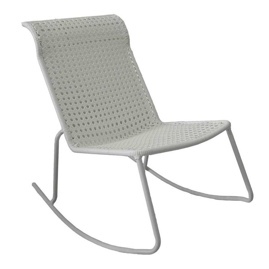 Current Stackable Patio Rocking Chairs With Garden Treasures Jewel Point White Steel Stackable Patio Rocking (View 2 of 20)