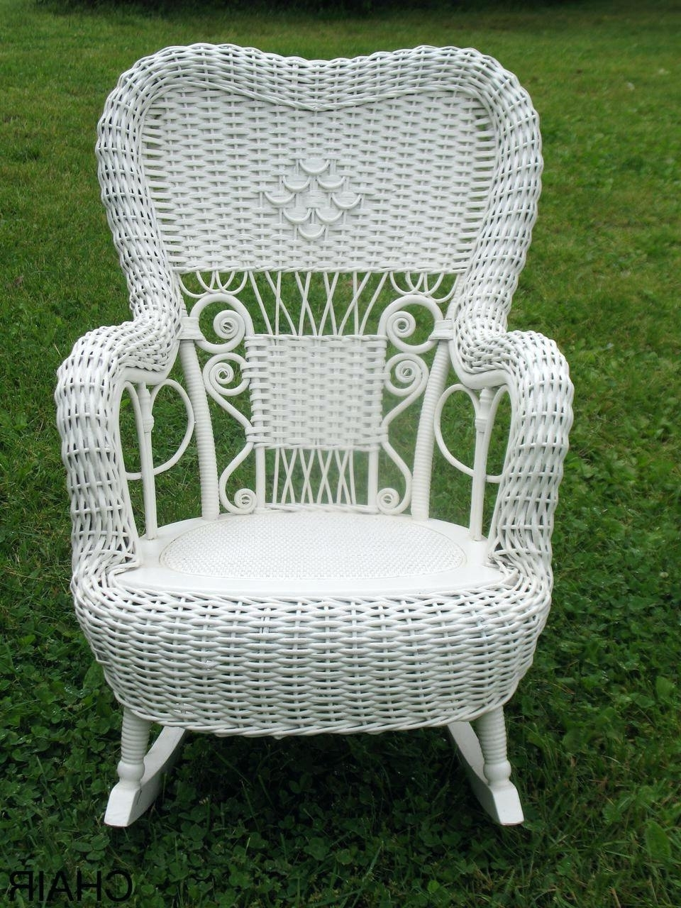 Current White Wicker Rocking Chairs Inside Wicker Rocking Chair Pier One White Outdoor Set Antique Wood (View 4 of 20)