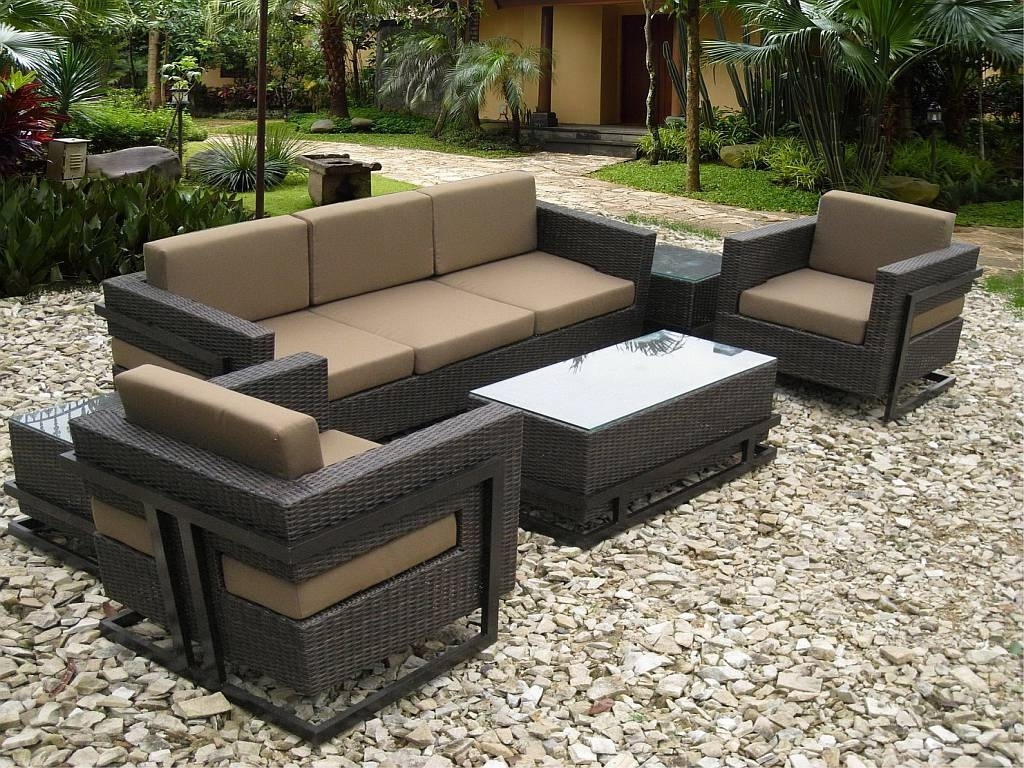 Current Wicker Outdoor Furniture Sets Decoration (View 6 of 20)