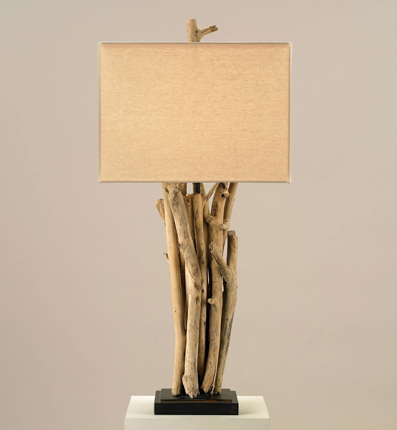 Currey And Company 6344 Driftwood Table Lamp Pertaining To Most Recently Released Wood Table Lamps For Living Room (View 4 of 20)