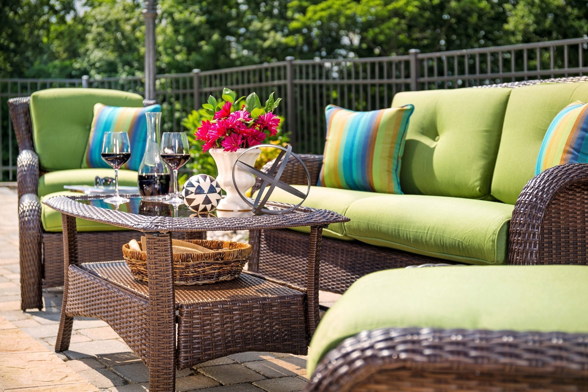 Cushion : Belham Living Meridian Round Outdoor Wicker Patio Intended For Most Up To Date Amazon Patio Furniture Conversation Sets (View 8 of 20)