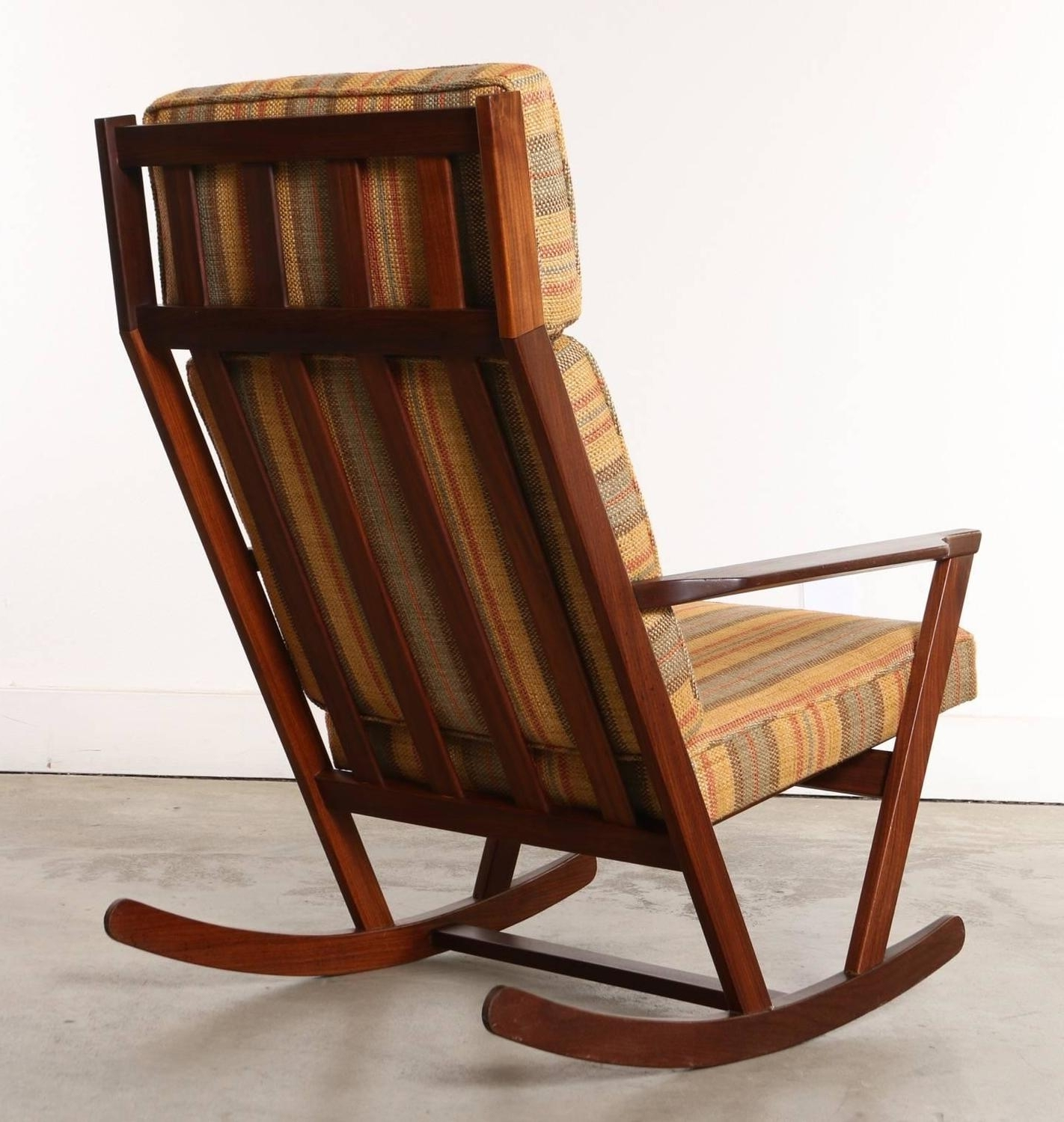 Danish Modern Wooden Rocking Chair With Cushions Designed, Danish Regarding Popular Rocking Chairs With Cushions (View 3 of 20)