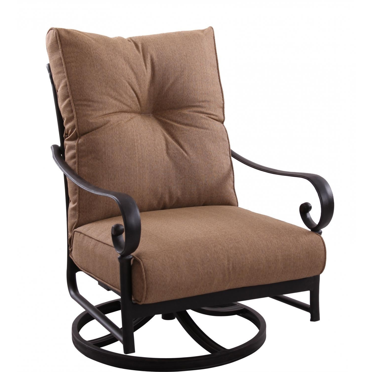 Darlee Santa Anita Cast Aluminum Patio Swivel Rocker Club Chair For Famous Patio Rocking Chairs With Ottoman (View 4 of 20)